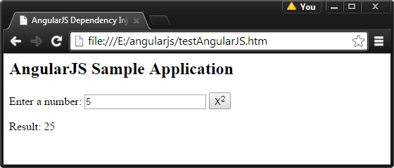 AngularJS Dependency Injection
