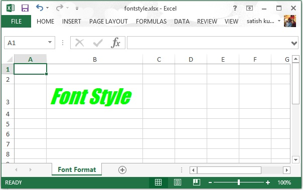 FontStyle
