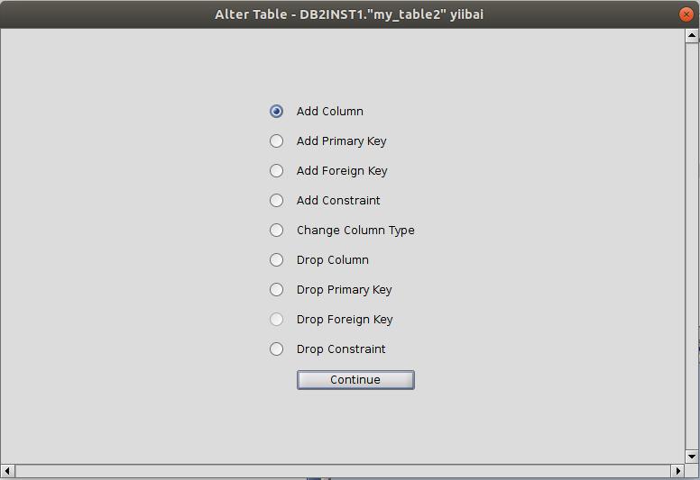 DB2 RazorSQL更改表结构- DB2数据库教程™