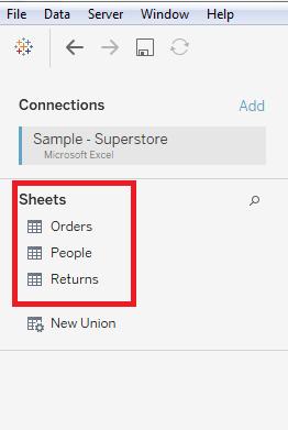 将Microsoft Excel文件连接到Tableau