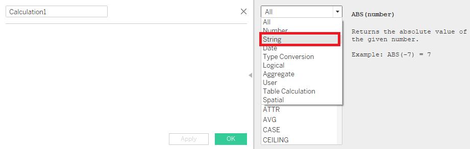 Tableau计算编辑器