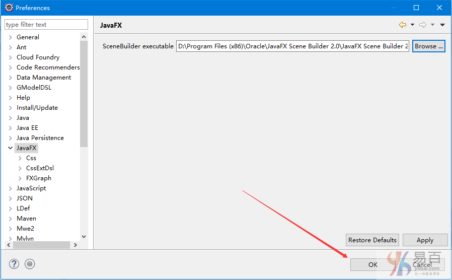 在Eclipse安装JavaFX Scene Builder - JavaFX教程™